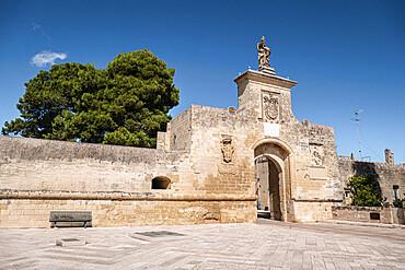 Gate of St. Oronzo, Acaya, Salento, Puglia, Italy, Europe