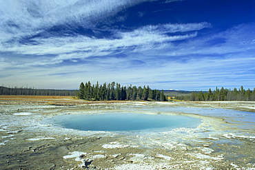 Opal Pool, Midway Geyser Basin, Yellowstone National Park, UNESCO World Heritage Site, Wyoming, United States of America, North America