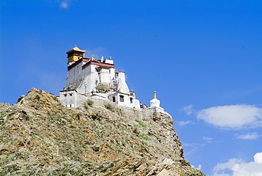 Yumbulagung Castle, restored version of the region's oldest building, Tibet, China, Asia