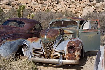 Old cars, Keys Ranch, Joshua Tree National Park, California, United States of America, North America