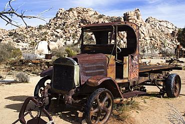 Old truck, Keys Ranch, Joshua Tree National Park, California, United States of America, North America