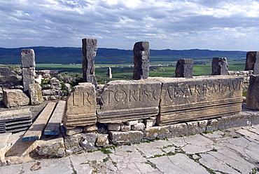 Roman ruin of Dougga, UNESCO World Heritage Site, Tunisia, North Africa, Africa