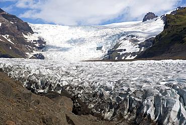Svinafellsjokull glacier, Skaftafell, Iceland, Polar Regions