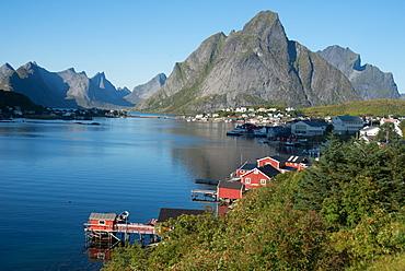 View over Reine Harbour, Lofoten Islands, Nordland, Norway, Scandinavia, Europe