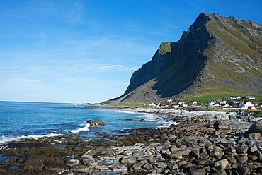 Overlooking Vikten, Lofoten Islands, Nordland, Norway, Scandinavia, Europe