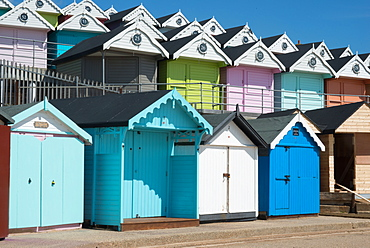 Beach huts, Walton-on-the-Naze, Essex, England, United Kingdom, Europe