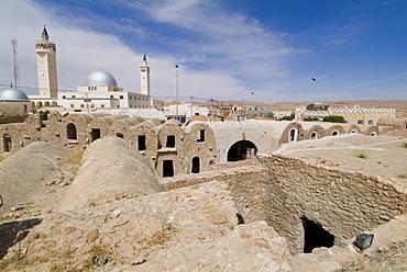 Berber grain storage units, recent site of Star Wars film, now a hotel, Ksar Hedada, Tunisia, North Africa, Africa