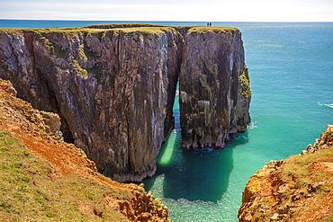 Stack Rocks, Castlemartin, Pembrokeshire Coast, Wales, United Kingdom, Europe