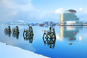 St David's Hotel and Spa, Snow, Cardiff, Bay, Wales, UK