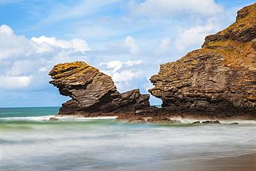 Llangrannog Beach, Ceredigion (Cardigan), West Wales, Wales, United Kingdom, Europe