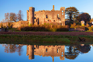 Laugharne Castle, Carmarthenshire, Wales, UK - 696-902