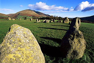 Castlerigg Stone Circle, Keswick, Lake District, Cumbria, England, United Kingdom, Europe