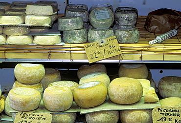 France, Corsica Island, Corse-Du-Sud, Porto-Vecchio, L'orriu Shop Of Corsican Fine Products Danielle Andreani Owner, Corsican Cheeses