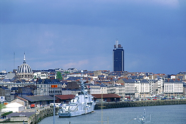 France, Pays De La Loire, Loire Atlantique (44), Nantes, Overview On The City And River Loire Harbour