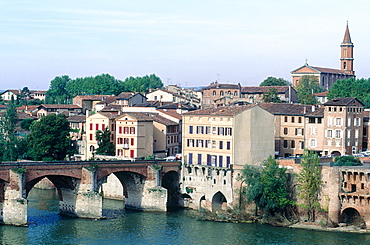 France, Midipyrenees, Tarn (81), Albi, The River Tarn And Bridge
