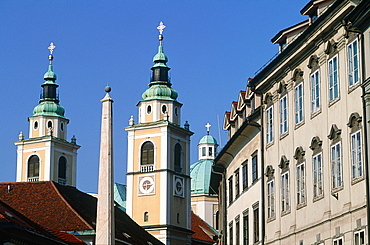 Slovenia, Ljubljana (Lubiana), The Old Town Cathedral Square, The Baroque Era Buildings