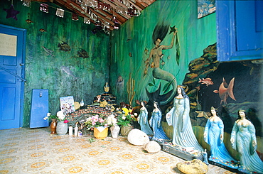 Brazil, Salvador De Bahia, Low City, Seaside Sanctuary Dedicated To Pagan Goddess Of The Seas Yemanga (Imported From Africa By Slaves)