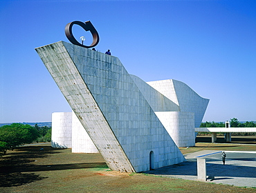 Brazil, Goias, Brasilia, The Administrative Capital Created Par President Kubitschek And Designed By Brasilian Town Planner Lucio Costa & Architect Oscar Niemeyer, Small Church Of N, D, De Fatima