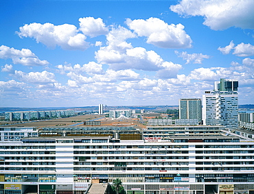 Brazil, Goias, Brasilia, The Administrative Capital Created Par President Kubitschek And Designed By Brasilian Town Planner Lucio Costa & Architect Oscar Niemeyer, Overview On The Administrative Quarter