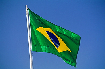 Brazil, Goias, Brasilia, The Administrative Capital Created Par President Kubitschek And Designed By Brasilian Town Planner Lucio Costa & Architect Oscar Niemeyer, The Brasilian Flag