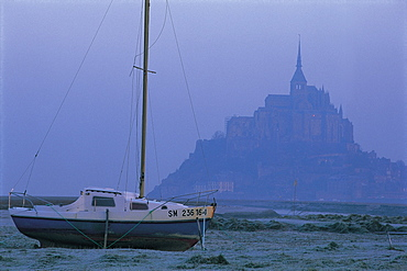 Mt St Michel, Morning Mist, Normandy, France