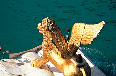 The Venice Lion, Regatta Storica, Venice, Italy