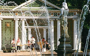 Russia, Saint Petersburg, Peterhof (Petrovorets) Castle And Park Traditional Musicians,