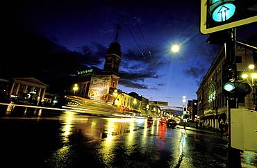 Russia, Saint Petersburg, Newsky Propekt At Night