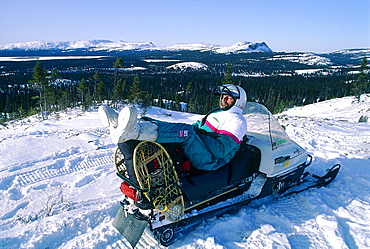 Canada, Quebec In Winter, Mounts Otish, Snowmobile Raid, Relaxing