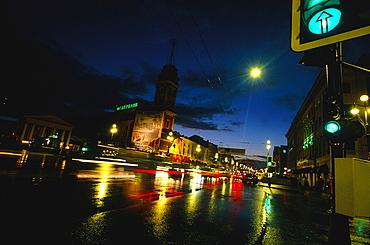 Russia, St-Petersburg, Newsky Prospekt At Night A Rainy Day