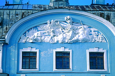 Russia, St-Petersburg, Baroque Style Front Of The Maritime Academy Built In 1912