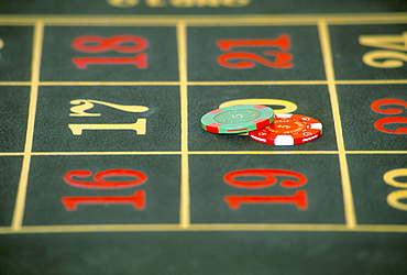 Gaming table on cruise ship MV Sapphire