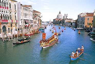 Regata Storica (historical Regatta), Venice, UNESCO World Heritage Site, Veneto, Italy, Europe