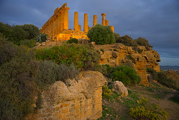 Temple of Juno, Valley of the Temples, Agrigento, UNESCO World Heritage Site, Sicily, Italy, Europe
