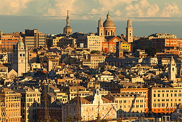 Cityscape, Genoa, Liguria, Italy