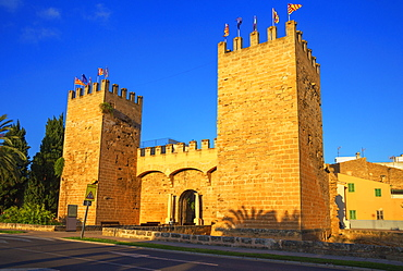 St. Sebastian Gate, Alcudia, Mallorca (Majorca), Balearic Islands, Spain, Europe