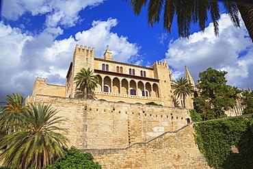 The Royal Palace of La Almudaina, Palma de Mallorca, Mallorca (Majorca), Balearic Islands, Spain, Europe