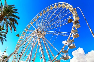 Ferris wheel, Porto Antico (Old Port), Genoa, Liguria, Italy,