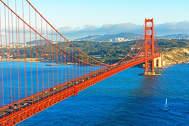 View of Golden Gate Bridge, San Francisco, California, United States of America, North America
