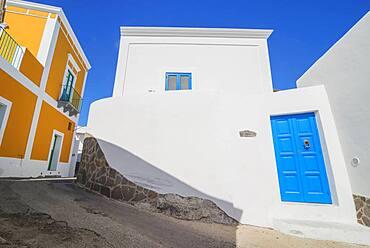 Traditional houses, Panarea, Aeolian Islands, UNESCO World Heritage Site, Sicily, Italy, Mediterranean, Europe
