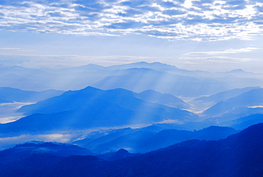 View of the Himalayan mountains from Nagarkot village, Nepal