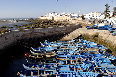 The old fishing port, Essaouira, the historic city of Mogador, Morocco, North Africa, Africa