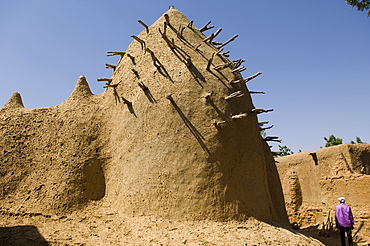 Two hundred year old mosque of Ba Sounou Sacko, Sekoro, old Segou, first capital of the Bambara kingdom, Mali, Africa