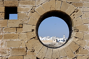 Old waterfont and city behind ramparts, Essaouira, historic city of Mogador, Morocco, North Africa, Africa