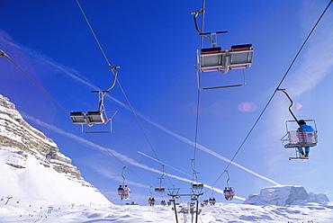 Ski lift, Dolomites, Trentino-Alto Adige, Italy