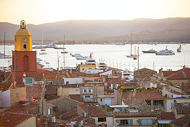 Rooftops, St. Tropez, Var, Cote d'Azur, French Riviera, Provence, Mediterranean, France, Europe