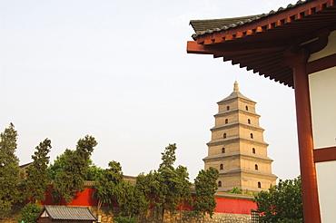 Big Goose Pagoda, Tang Dynasty, built in 652 by Emperor Gaozong, Xian City, Shaanxi Province, China, Asia