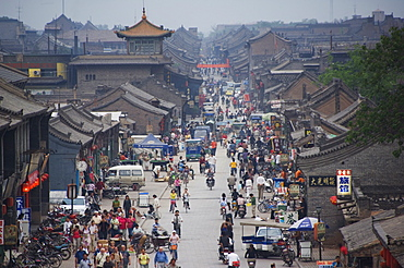 People in the historic old town, Ping Yao, UNESCO World Heritage Site, Shanxi Province, China, Asia