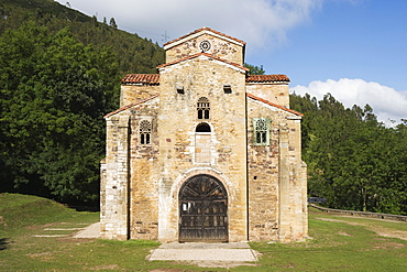 San Miguel de Lillo, 9th century Royal Chapel of Summer Palace of Ramiro I, remodelled in the 17th century, UNESCO World Heritage Site, Oviedo, Asturias, Spain, Europe