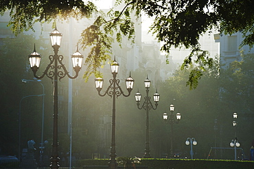 Street lamps, Buenos Aires, Argentina, South America